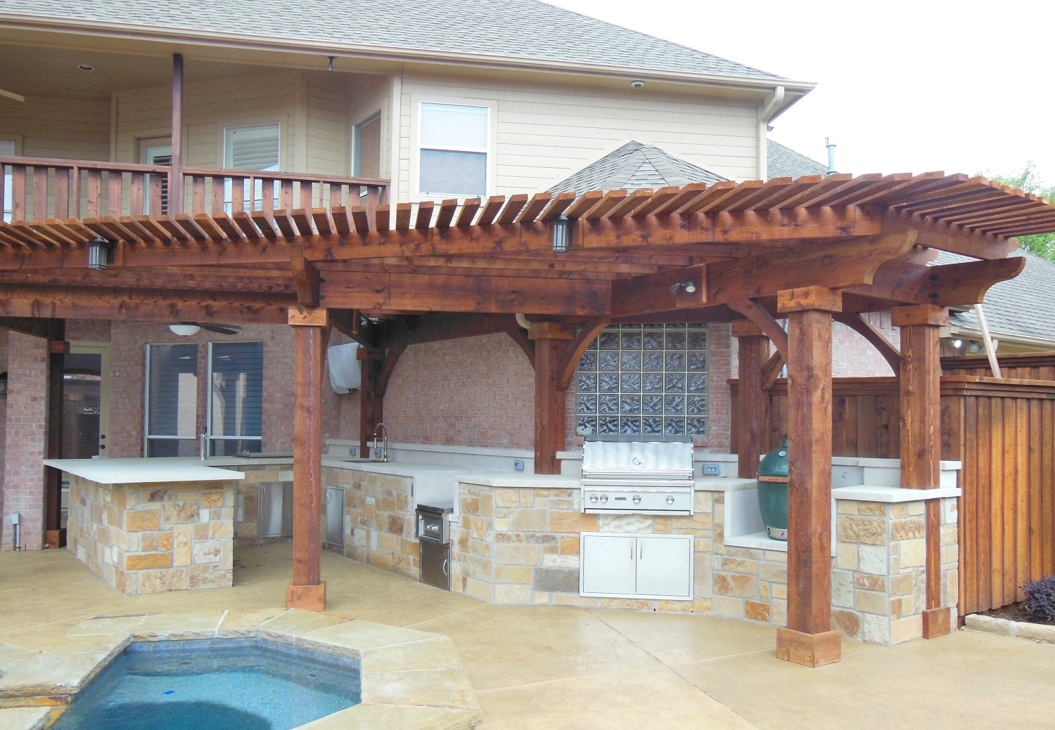 Image of: Patio With Pool And Grill With Outdoor Kitchen Outdoor Kitchens Tampa Bay Kitchen Brandon