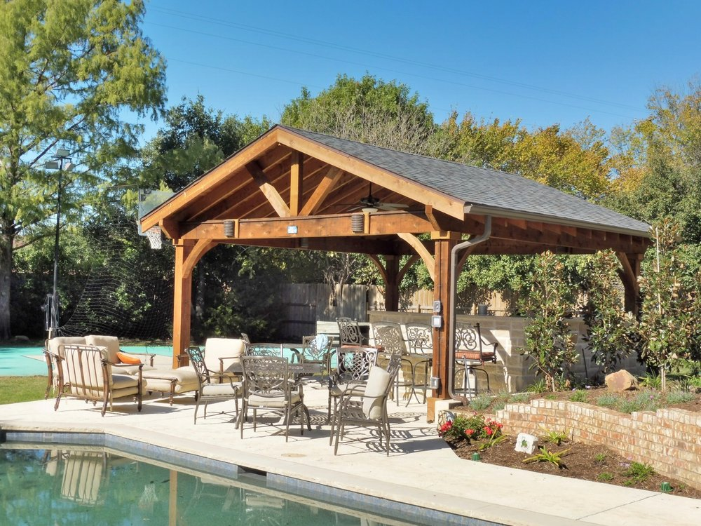 Southlake Outdoor Living And Grilling Area