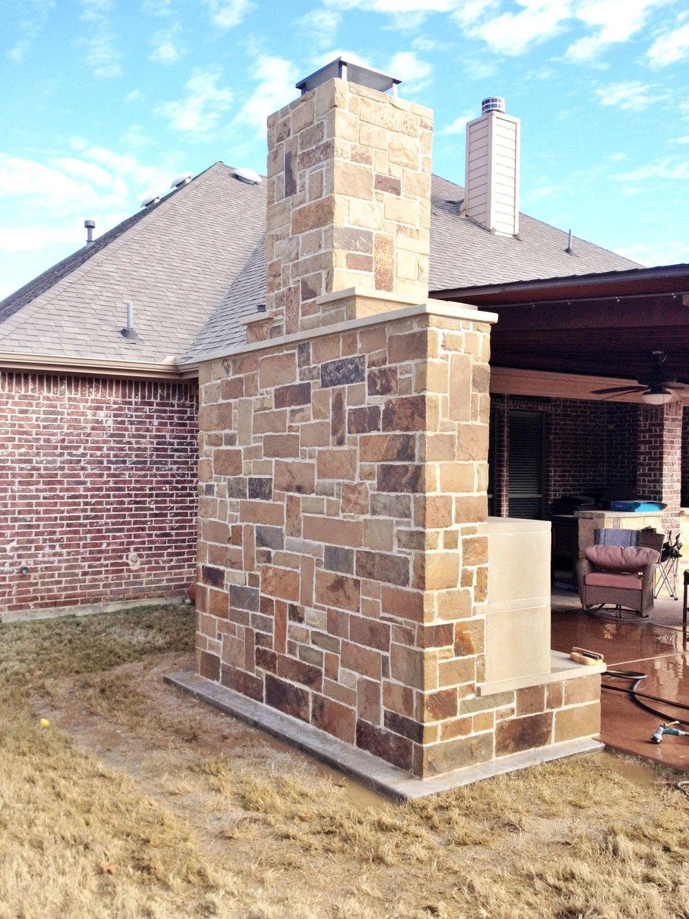 Bon Keller Fireplace With Leuders Stone Storage