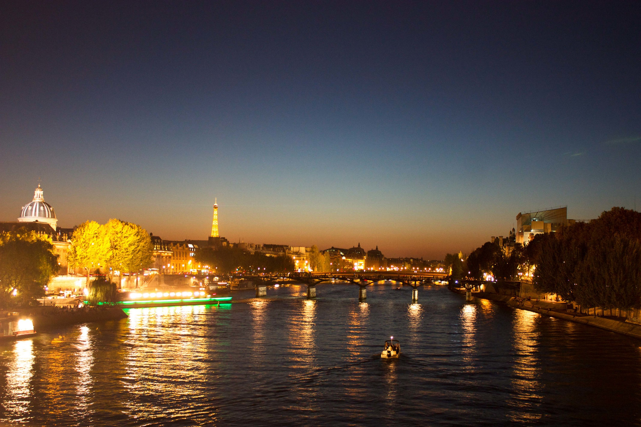 Alue night at the Seine