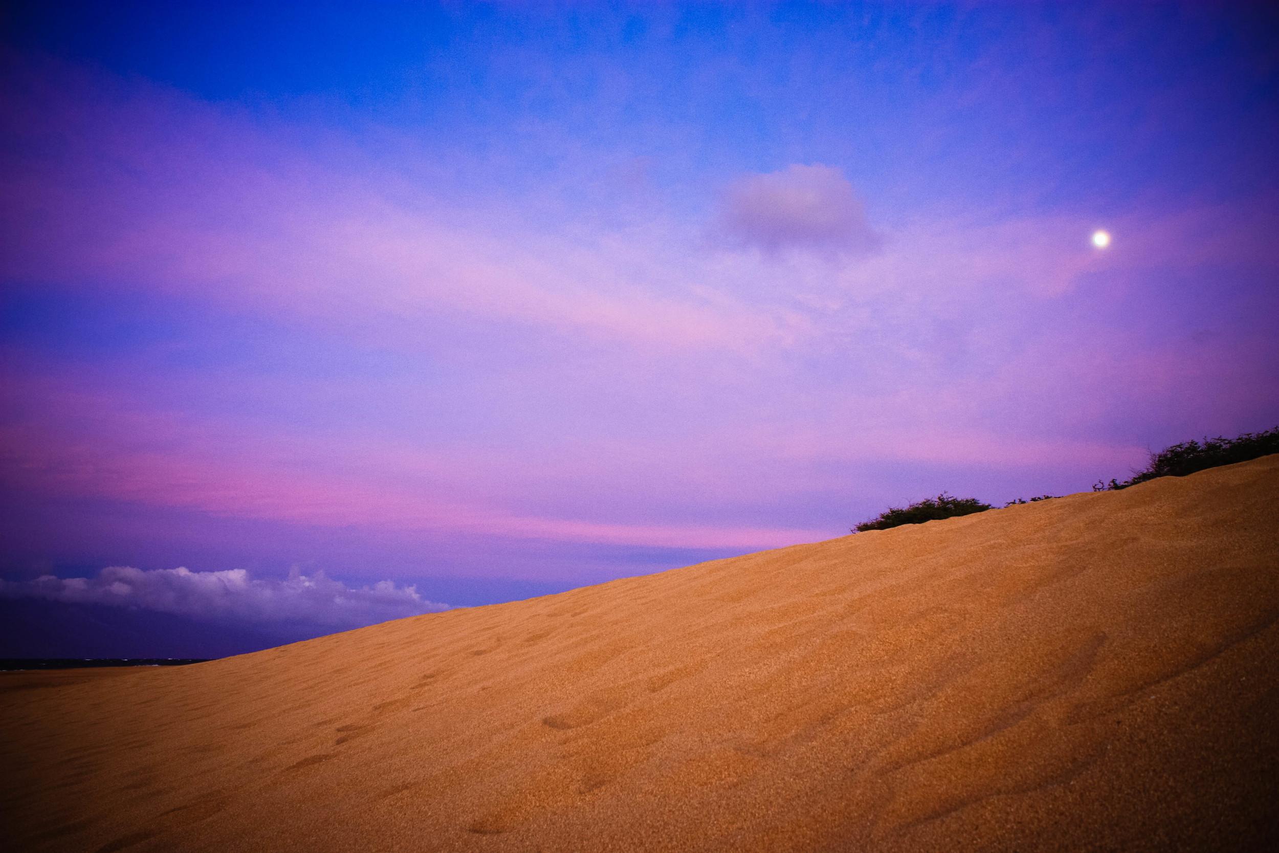Sunset at Polihua Beach