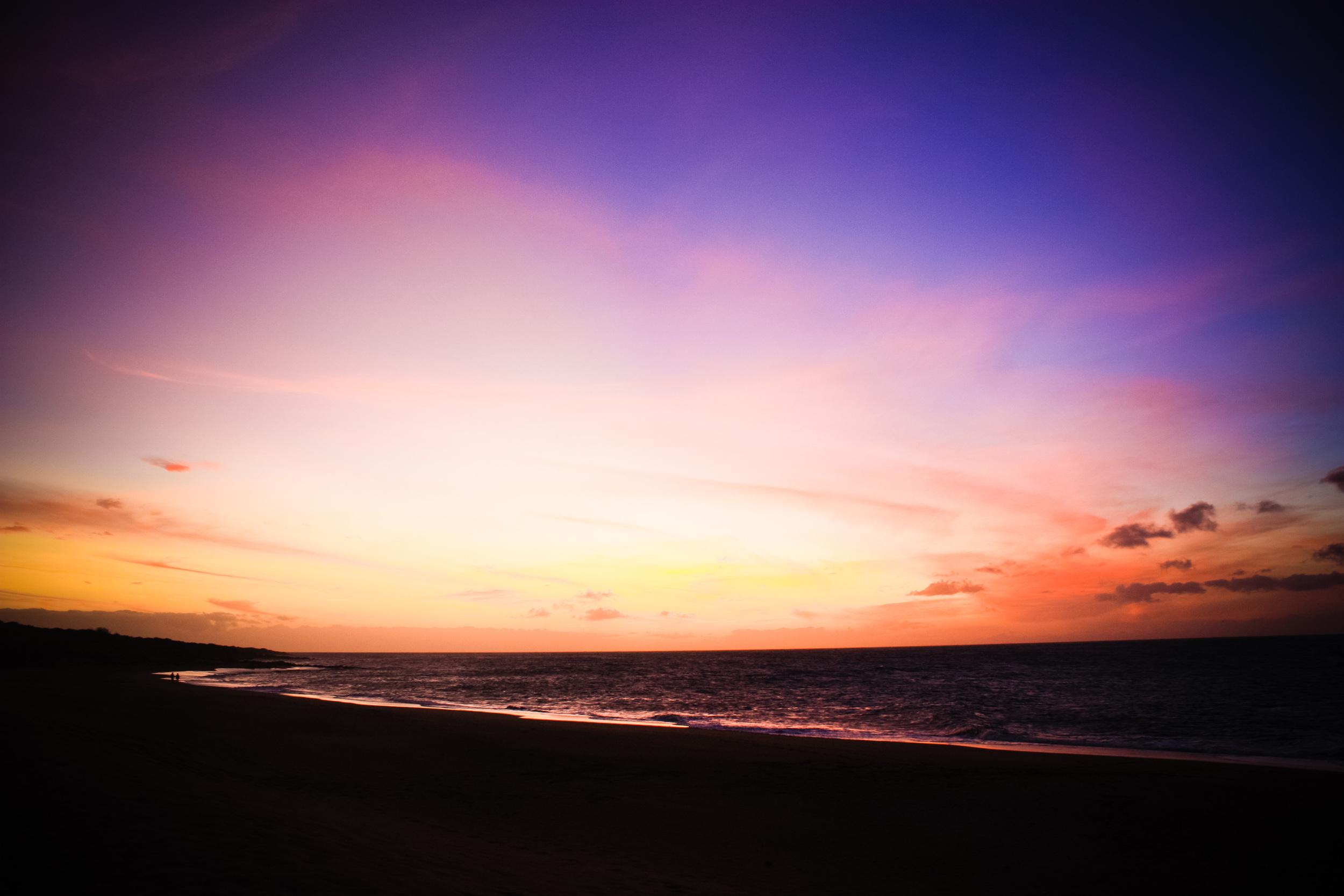 Polihua Beach sunset
