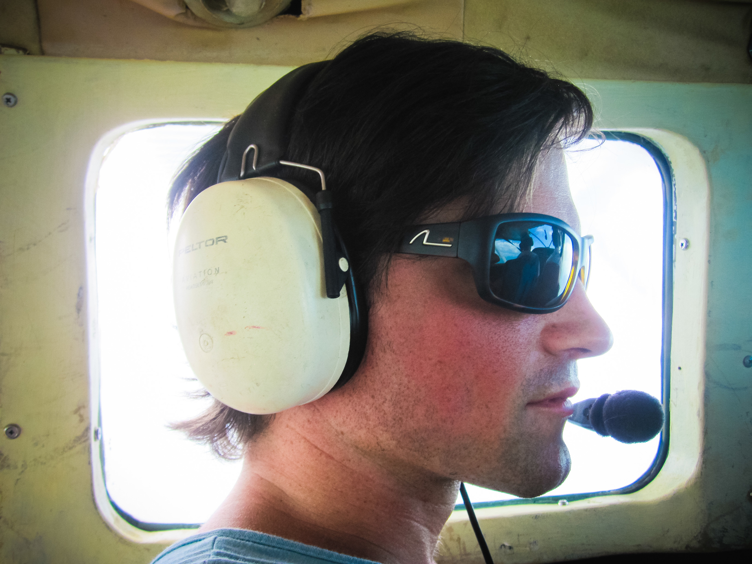 donny the pilot in alue optics five