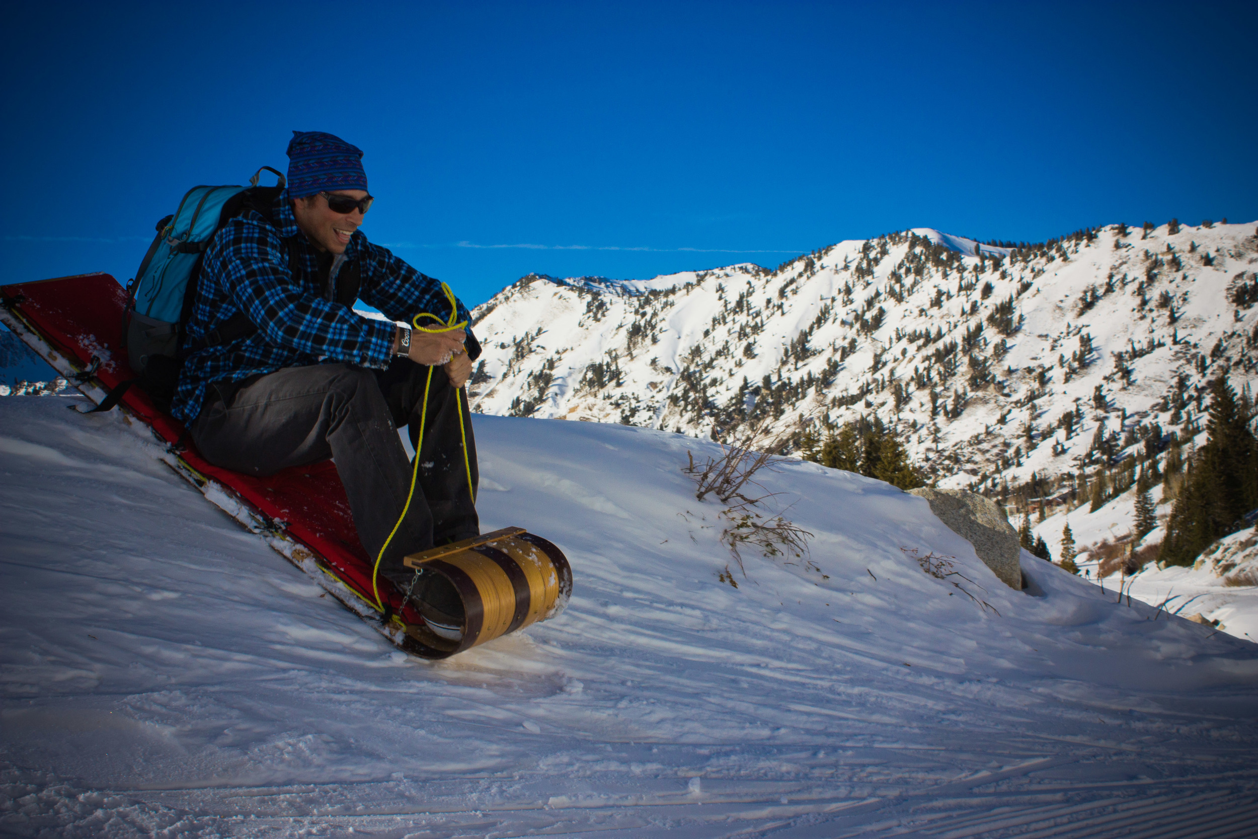 dropping in alue optics sled