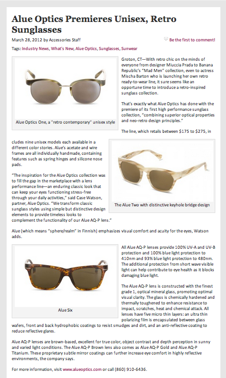 alue optics accessories magazine