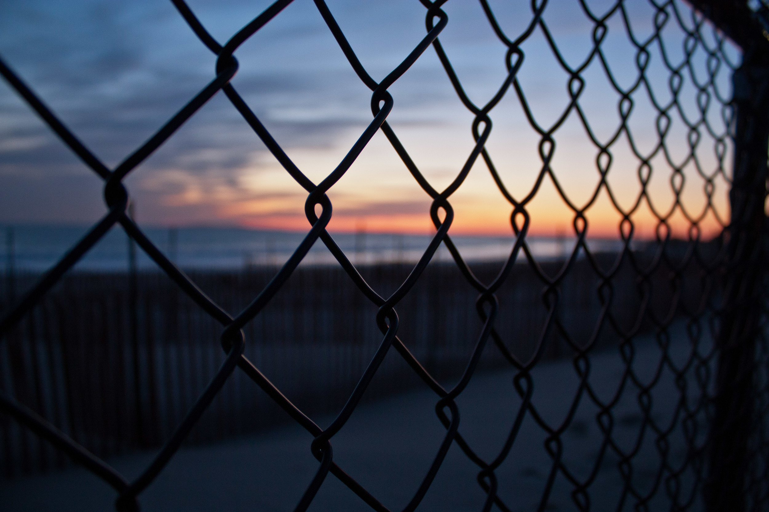 napatree fence sunset alue optics