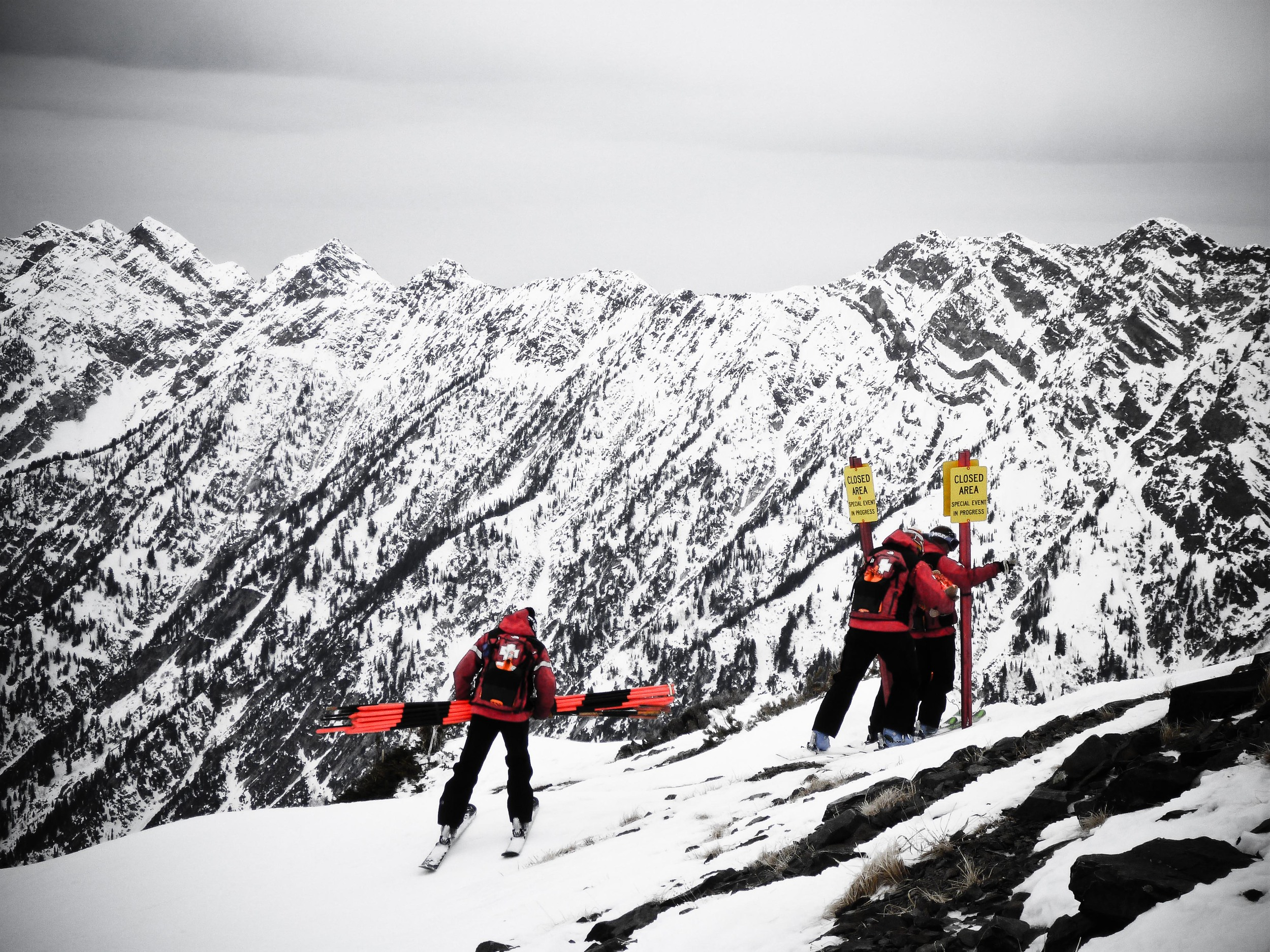 ski patrol upper cirque snowbird alue optics
