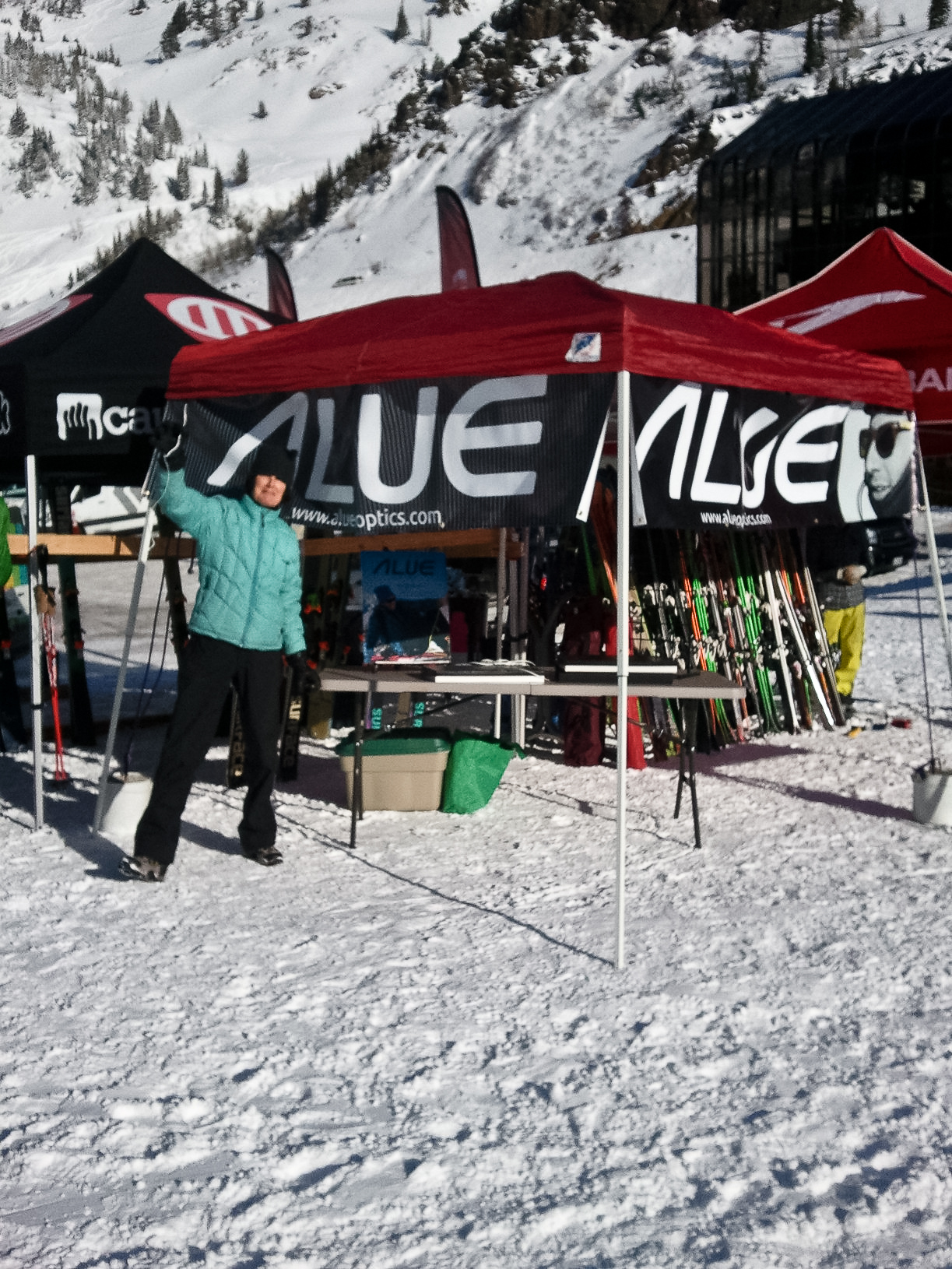 darcie alue optics tent set up alta