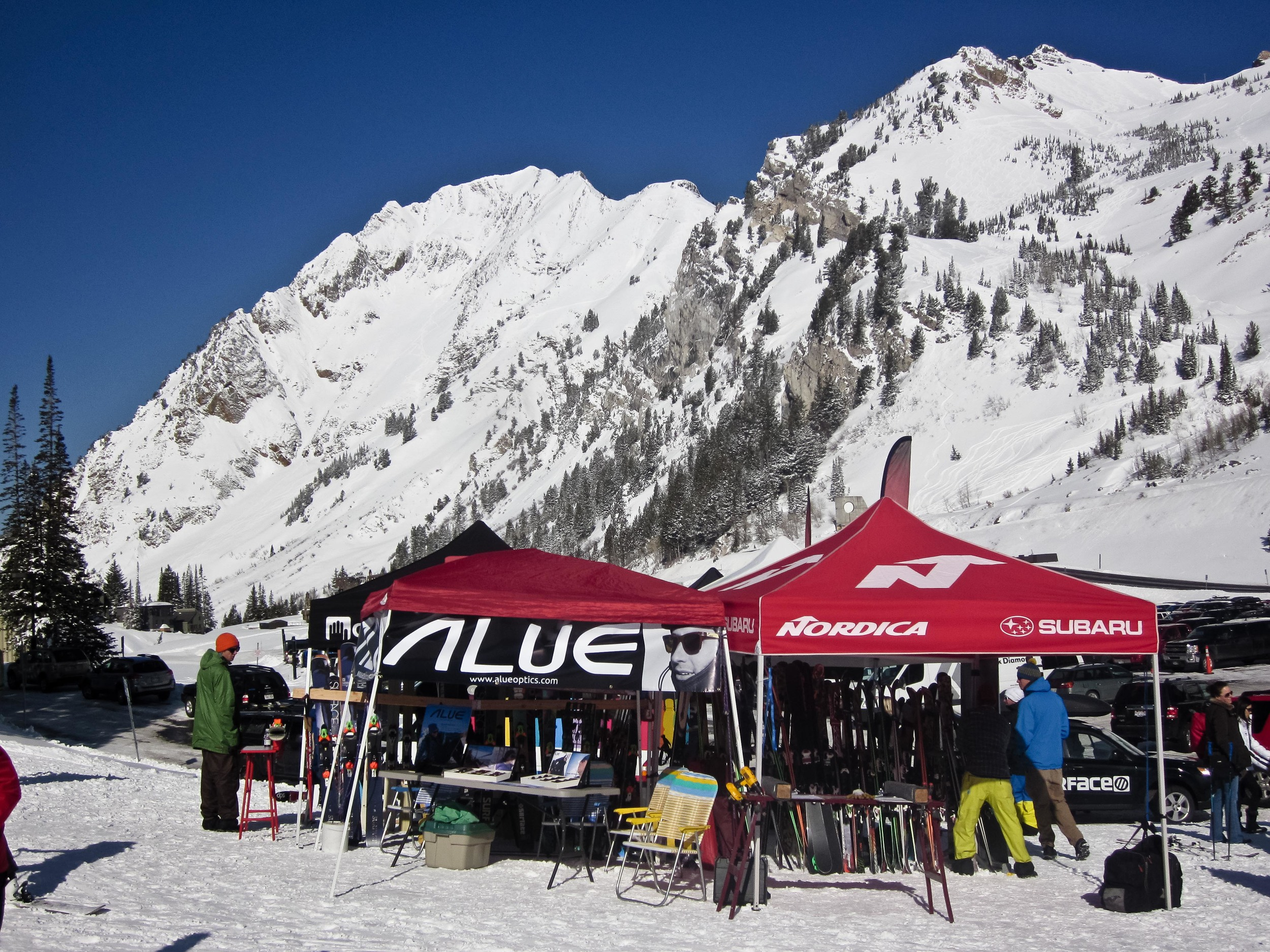 alue optics tent alta demo day