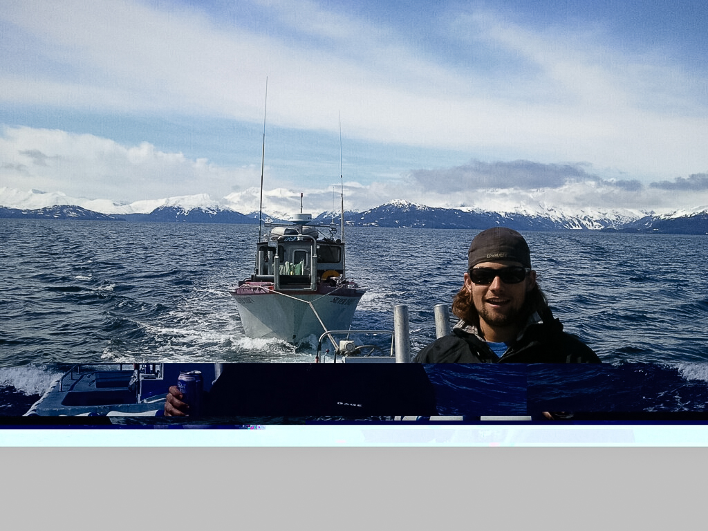 desi driving boat alue optics alaska fishing