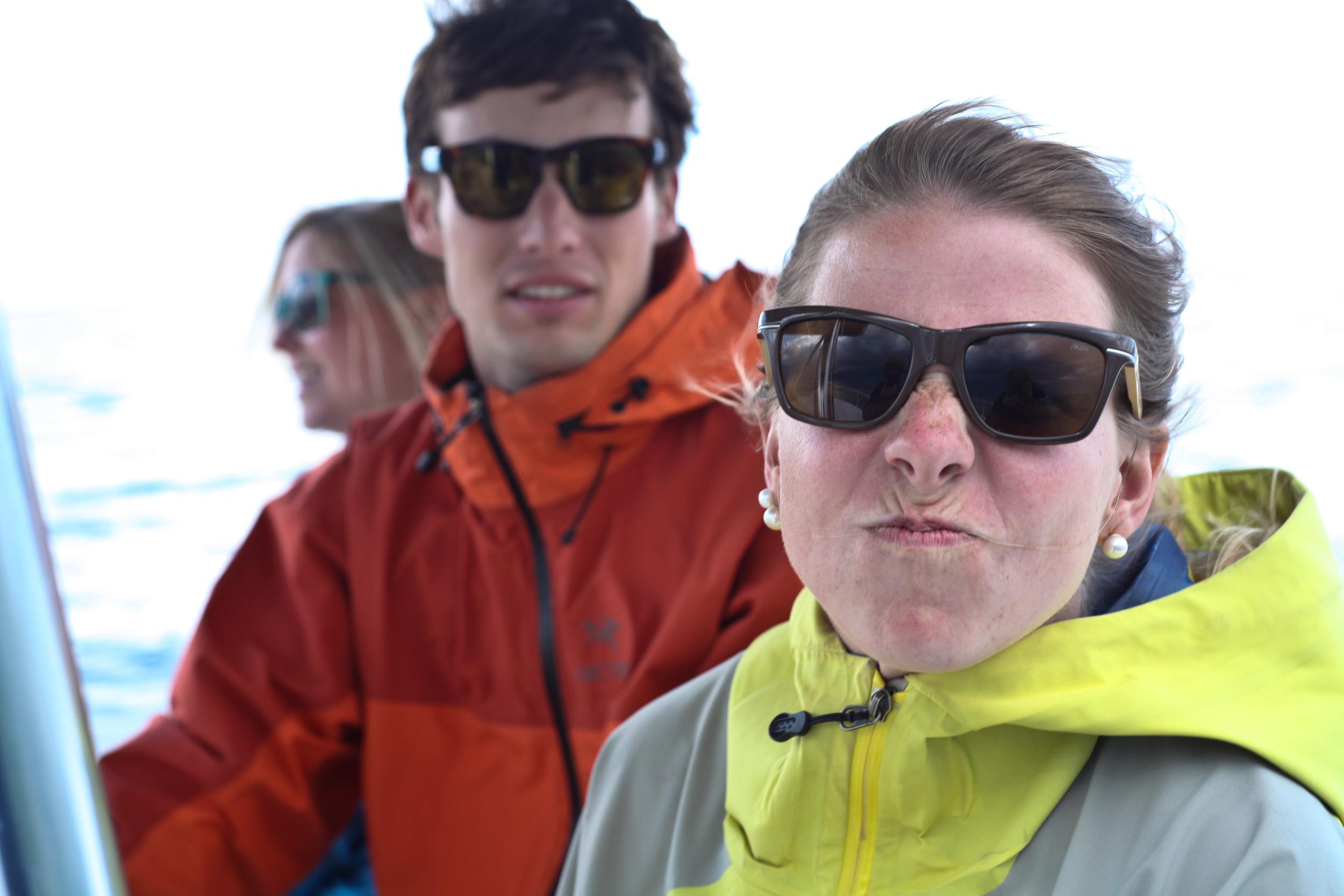 alie bittle alue optics six boat
