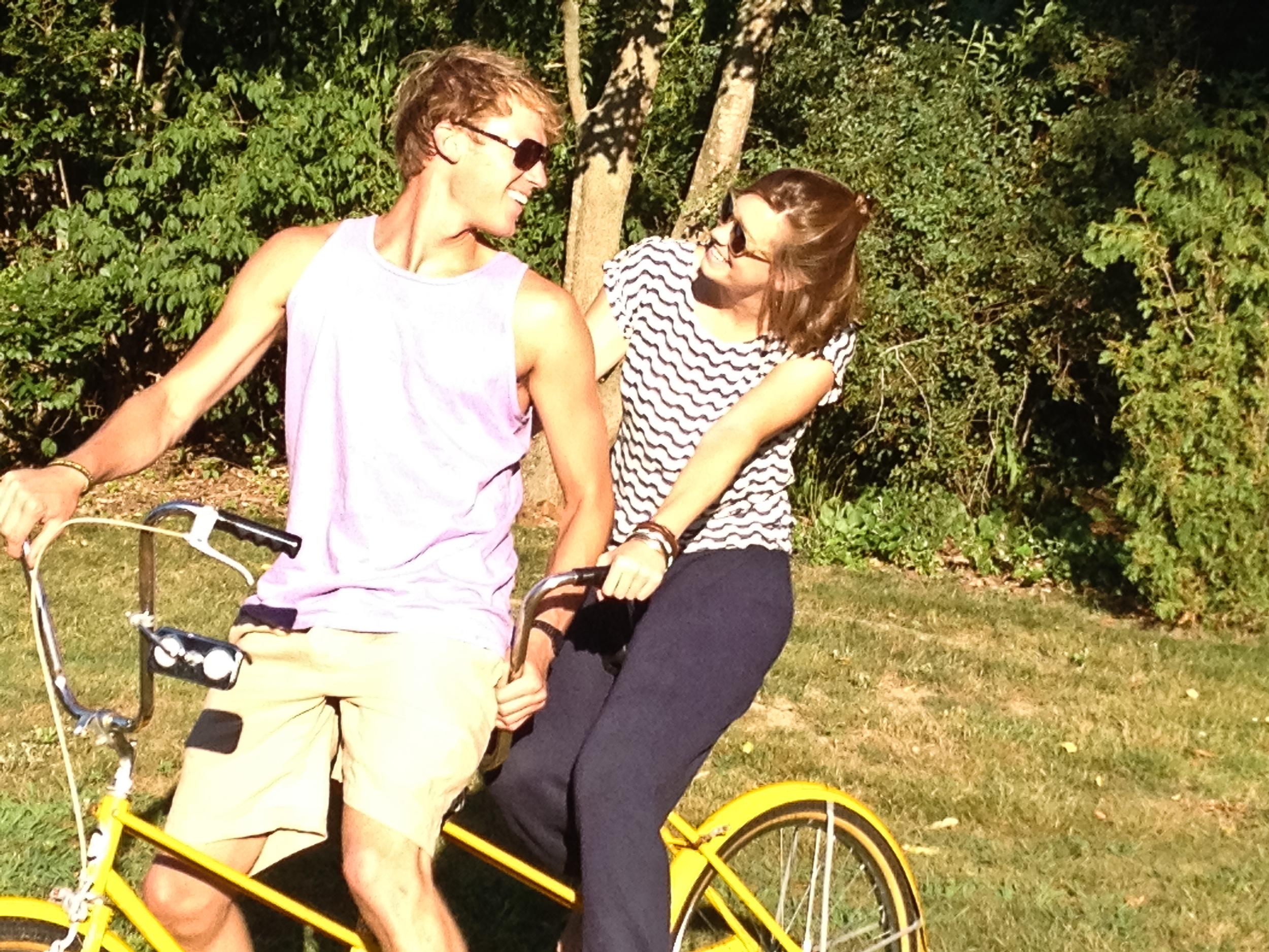 nate caroline tandem bike alue optics nine two sunglasses