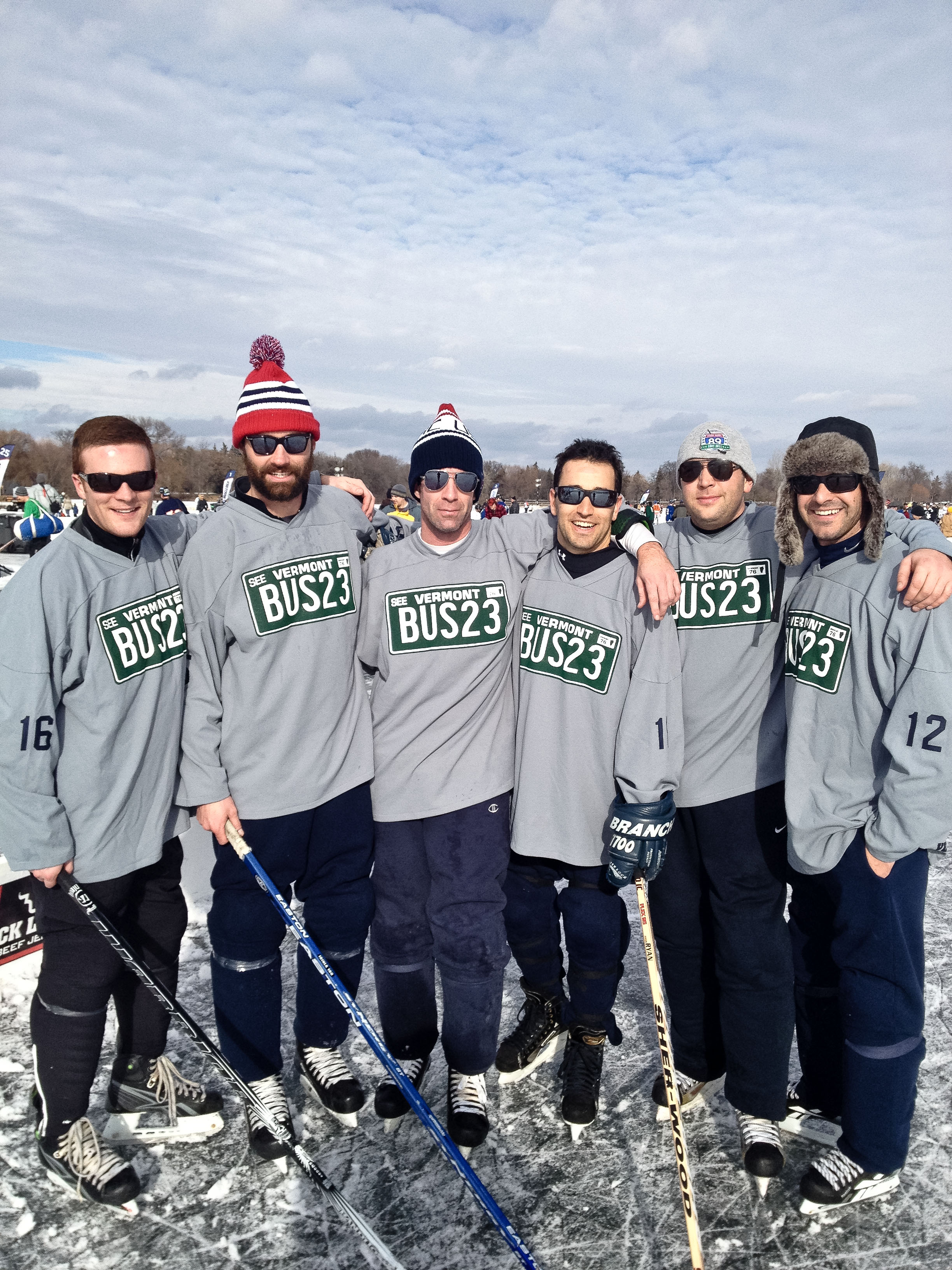 us pond hockey champs vt transit alue optics sunglasses