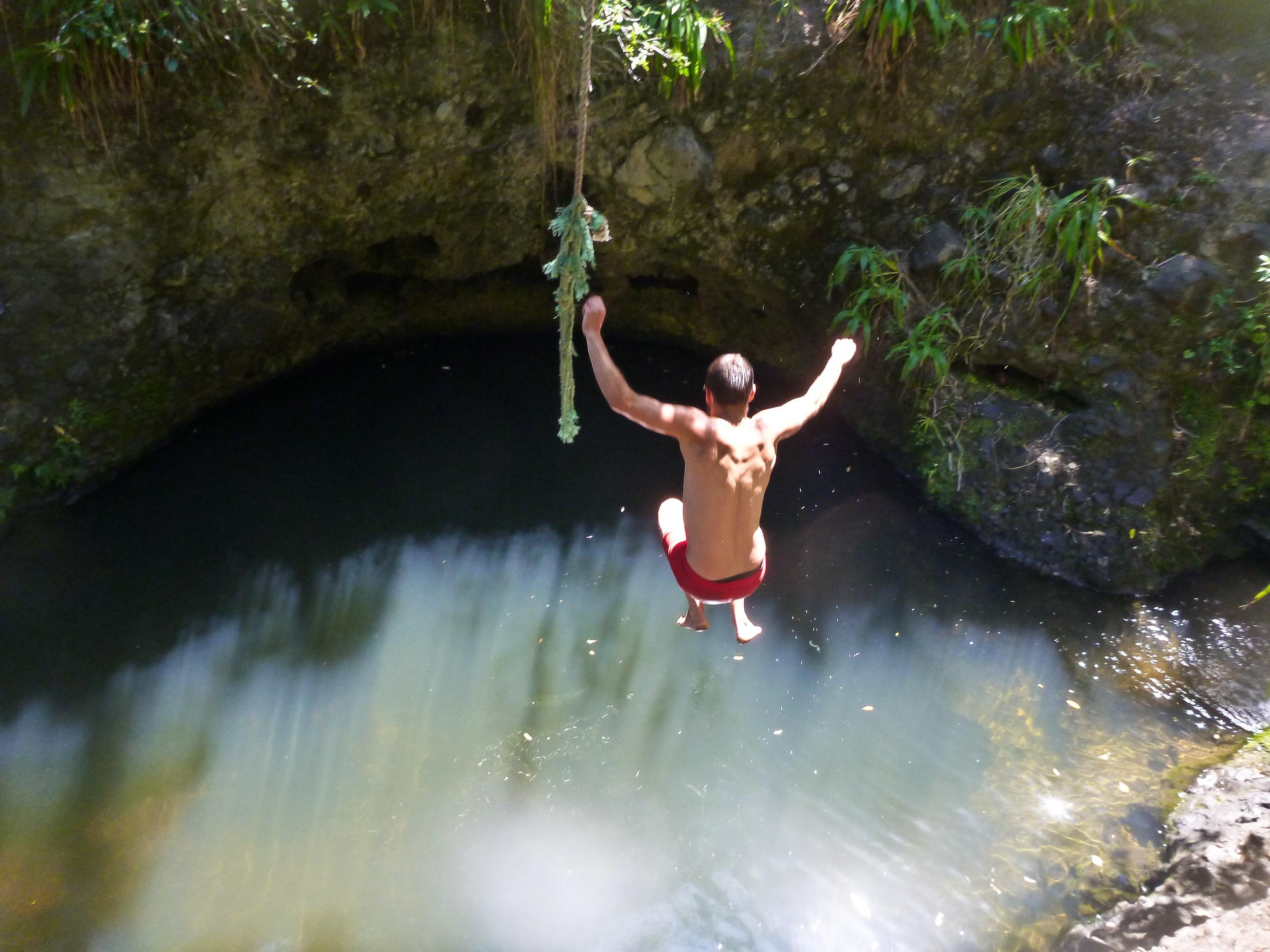 d blaze karekare rope swing pool