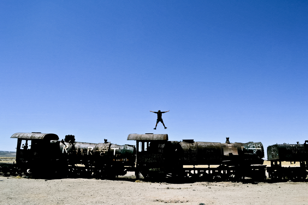 Train graveyard in Bolivia.