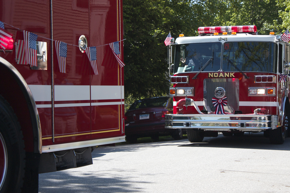 The Noank Firetrucks.