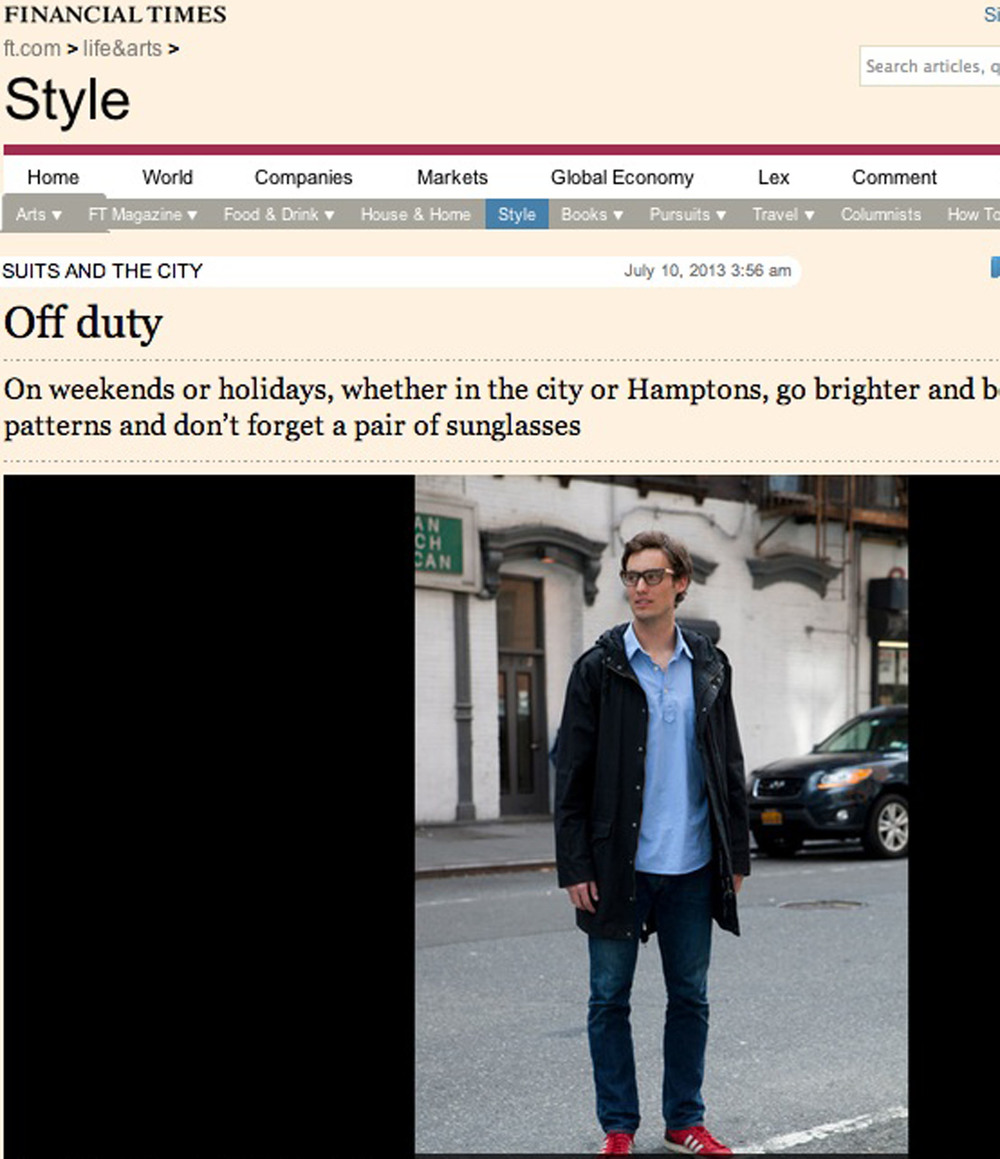 Financial Times -   Suits and the City Blog