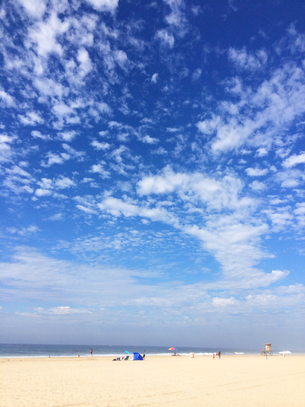Sunday beach sky.