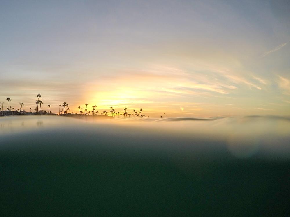 Sunrise underwater.