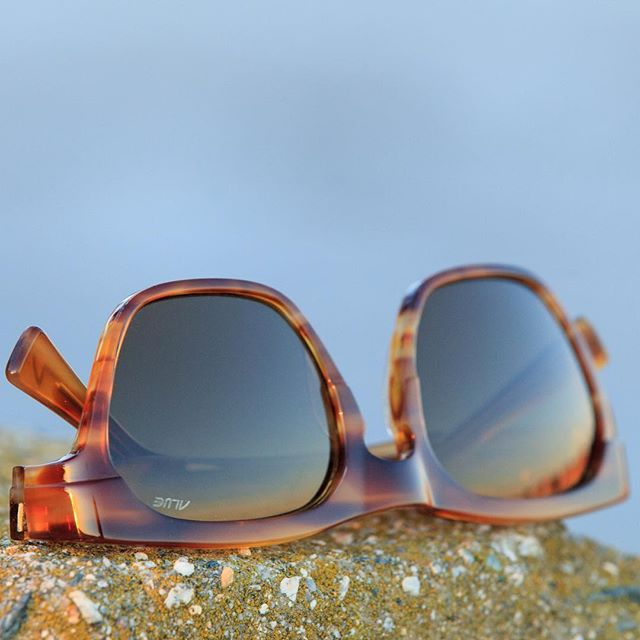 The Alue Two in Watermark Chestnut. Handmade in Japan featuring Alue's Polarized Mineral Glass lenses. #wearalue