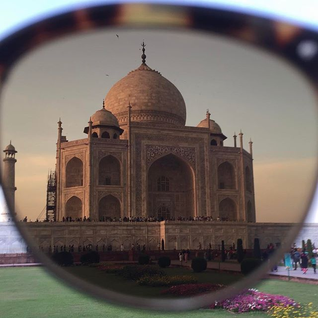 The Taj Mahal through the Alue One by @topseckretz. 🕶 #wearalue