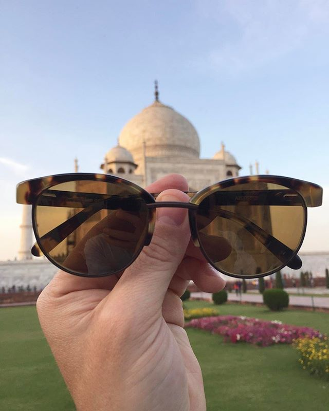 The Taj Mahal and the Alue One in Tawny Tort by @topseckretz 👓#wearalue