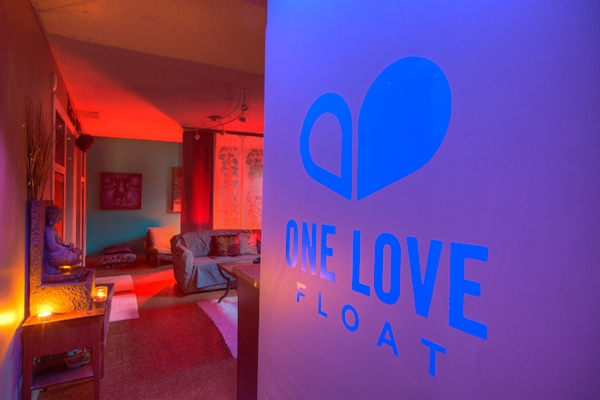 entering the one love float studio space