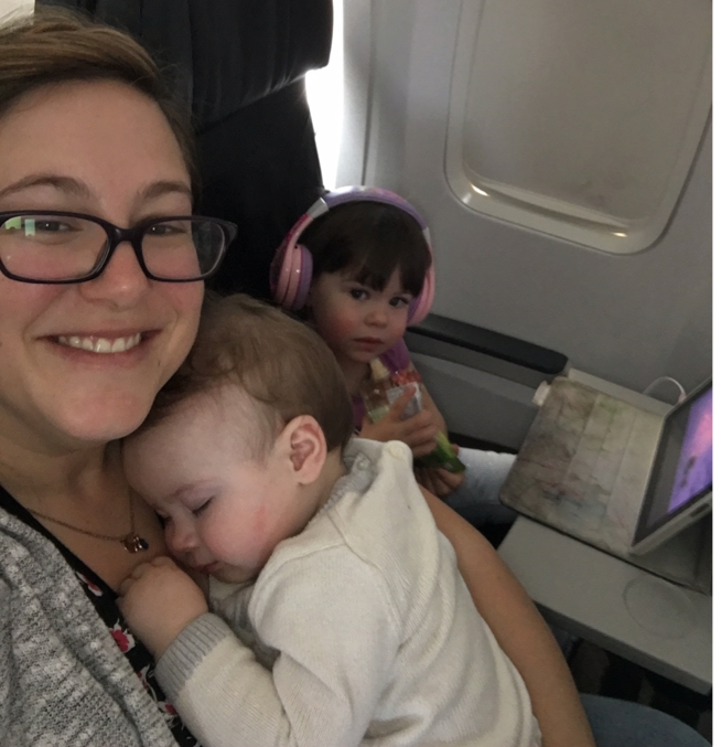 On a short plane ride to BC for a family visit over Christmas.