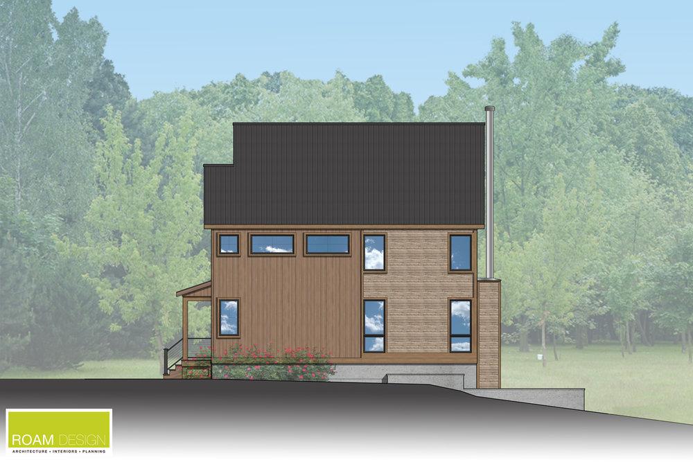 Proposed side elevation