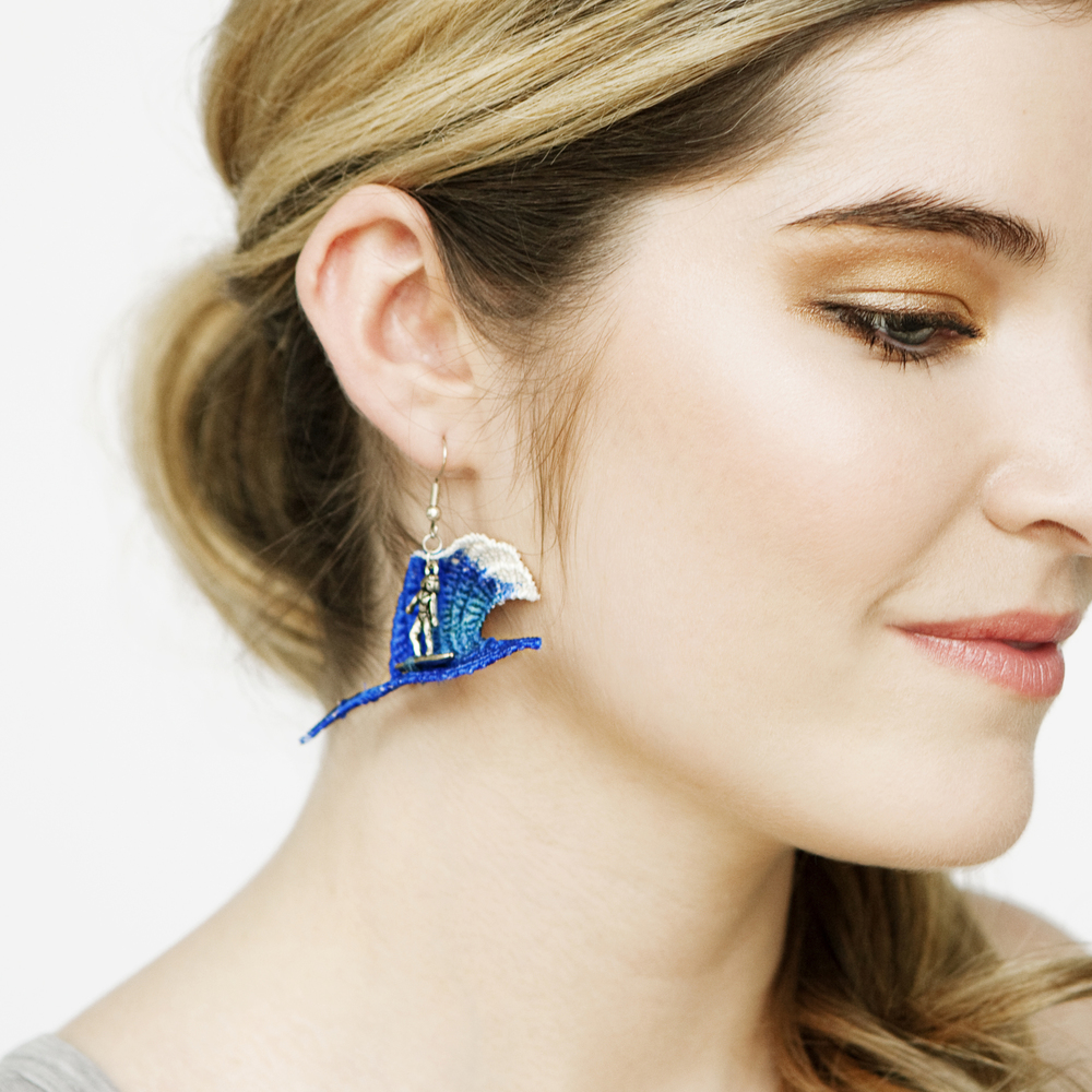 Surfer earrings