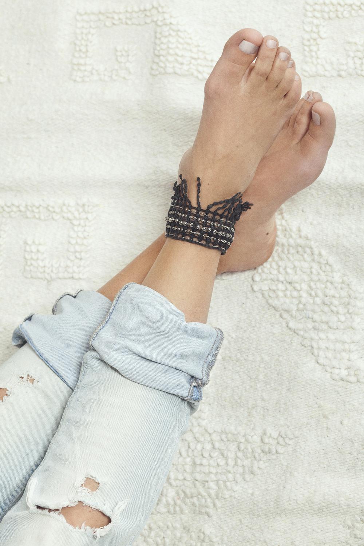 Cabasa anklet (details here)