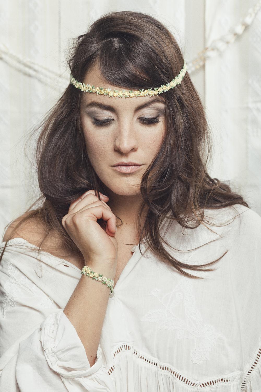 Flowerchild headband (details here) +  Flowerchild bracelet (details here)