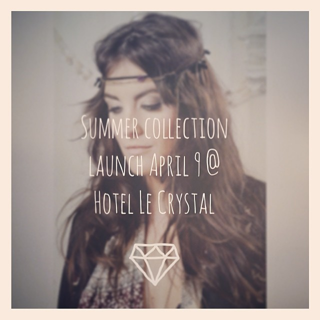 Next Wednesday we launch our Summer 2014 collection @ Hotel Le Crystal! Come join the party from 5pm to 8pm :D #launch #jewelry #handmade #shoplocal #modemtl @bureaumodemtl #canadianfashion #lace #event #montreal