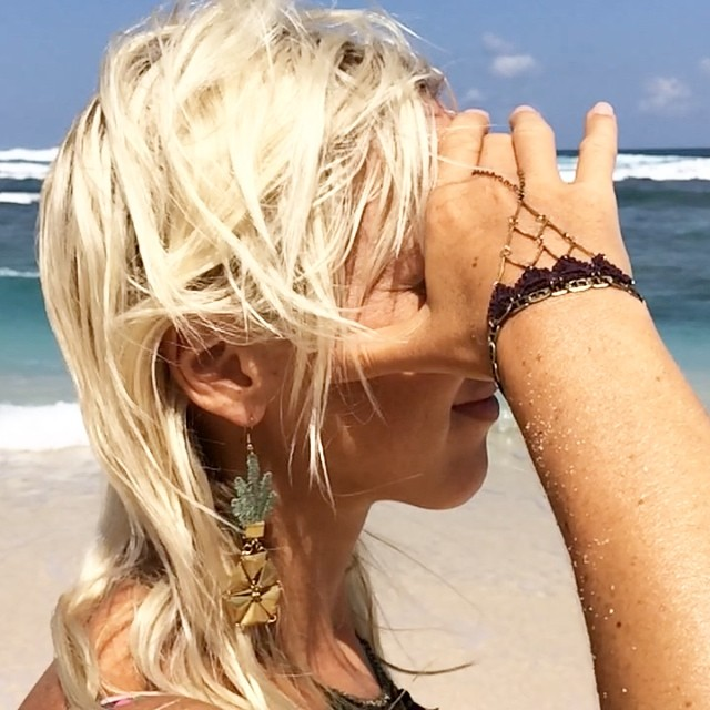 @thisilk goes to the #beach … #Bali #Indo #jewelry #jewellery #pineapple #earrings #bracelet