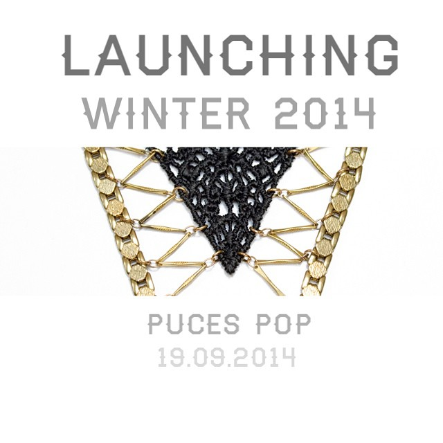 It's happening this weekend! Come lay your eyes / purchase the NEW collection @ Puces Pop : Friday —> Sunday @ Metro Laurier …. #shoplocal #Montreal #design #jewelry #jewellery #launch #FW14 #lace #thisilk #new #necklace #earrings #madeinMTL #modemtl #handmade #event @popmontreal