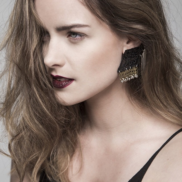 Dropshadow earrings now available @ thisilk.com/shop ! #jewelry #jewellery #lace #earrings #photography #canadianfashion #modemtl #madeinMTL #shoplocal #shoponline photo by @elisabethcloutierphoto