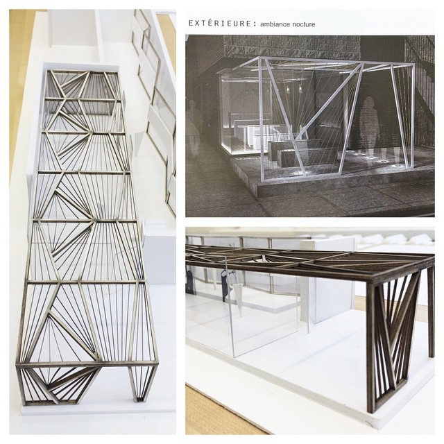 Last image of the #collaboration … Future This Ilk flagship or pop-up shop?? #InteriorDesign #storefront #UdM #design #DEI2015 #proud #mock-up #maquette #geometric #render #scalemodel (at Faculté de l'aménagement - Université de Montréal)