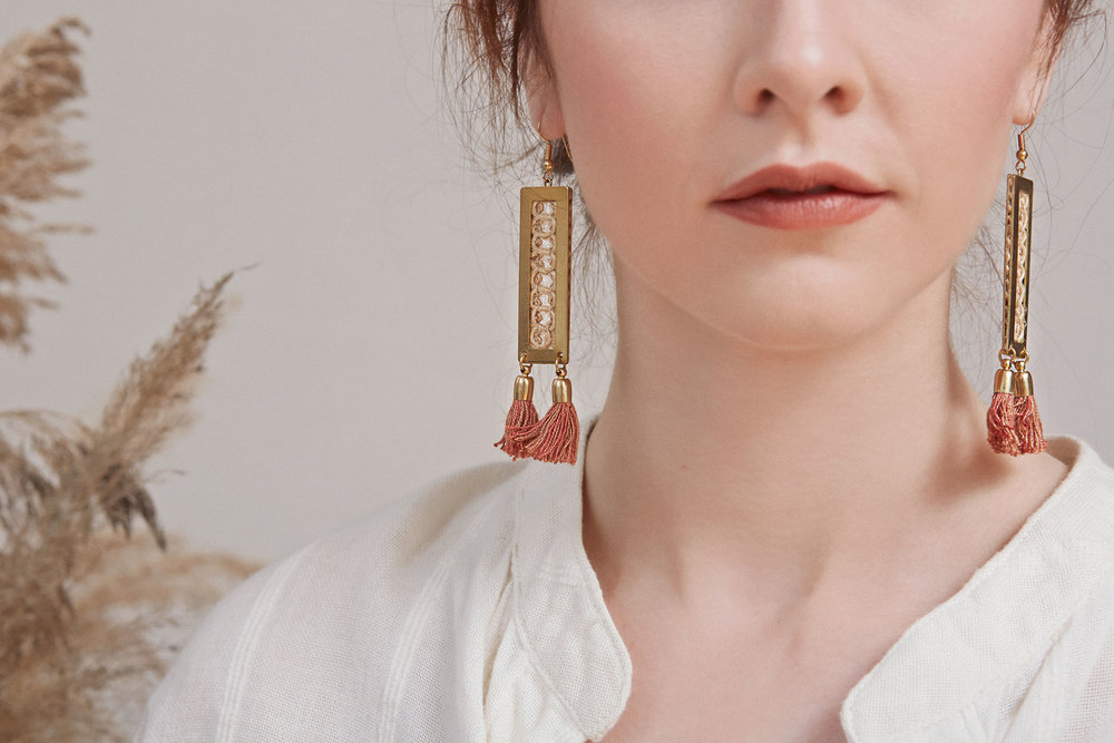 Kalahari earrings (click here for details)