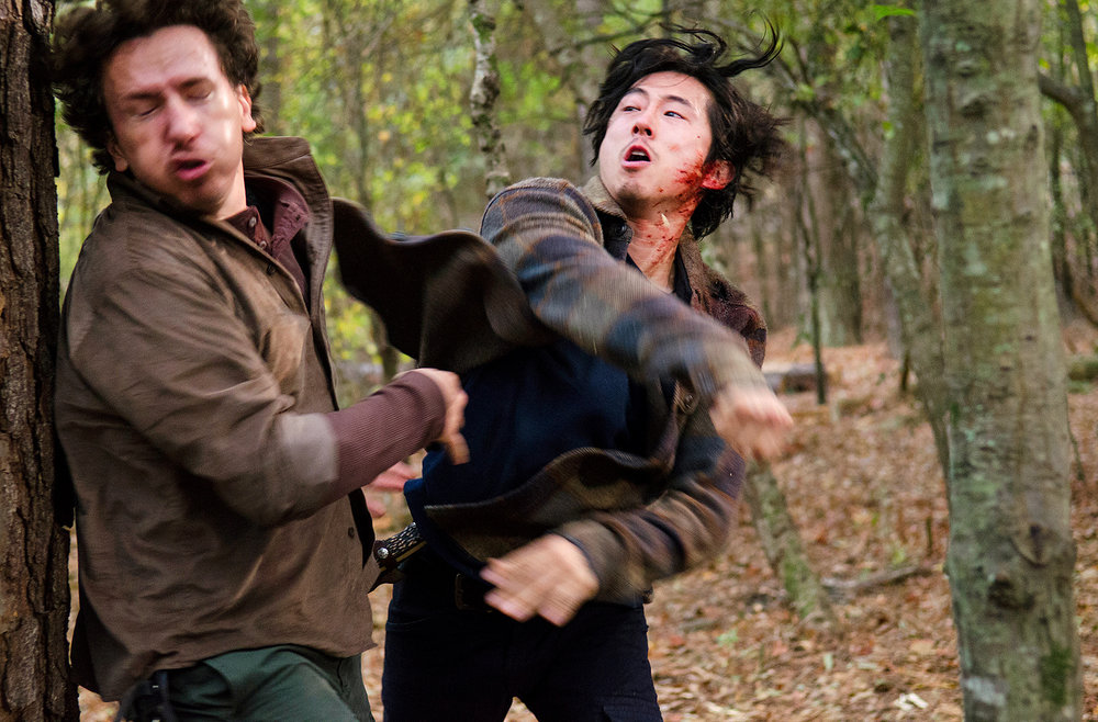 This fight between Nicholas and Glenn wins the prize for least meaningful conflict in the zombie apocalypse.