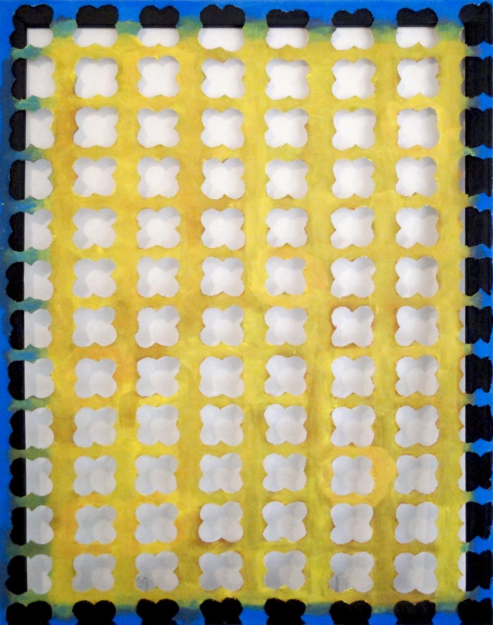 Full Cut Yellow Slant Quatrefoil