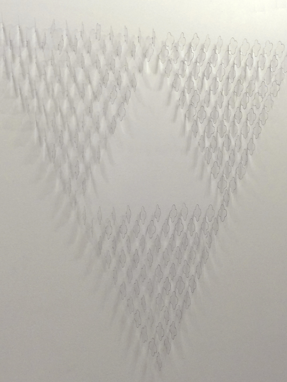 239 Delta  239 Acetate Quatrefoils and marker on cut dry wall. Site specific. 150 x 150 cm. 2015