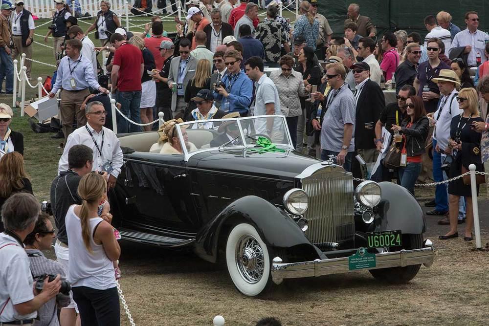 El ganador cuando todavía no sabía que era ganador... Packard 1934, Best of Show. Foto: Erika Blanco