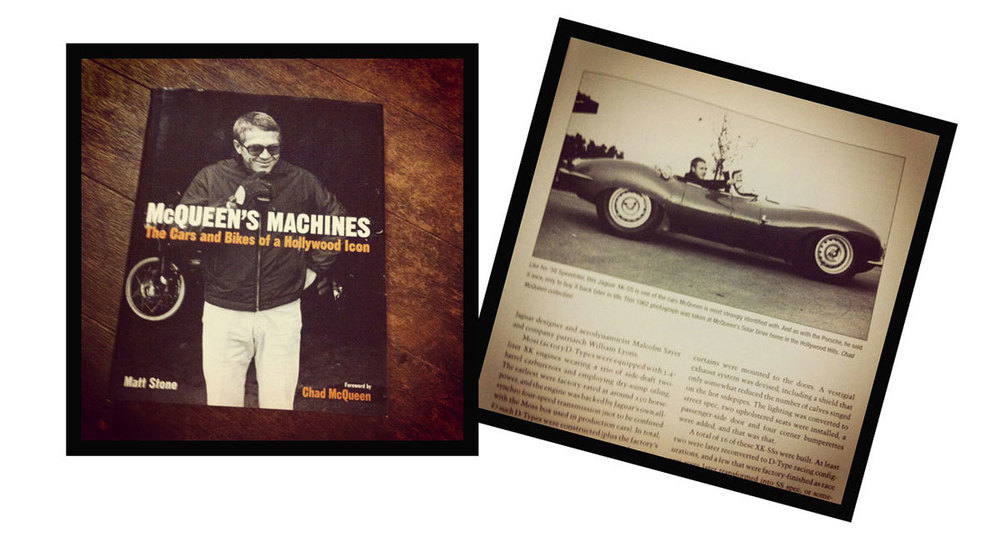 Con información de: McQueen's Machines, The Cars and Bikes of a Hollywood Idol, por Matt Stone