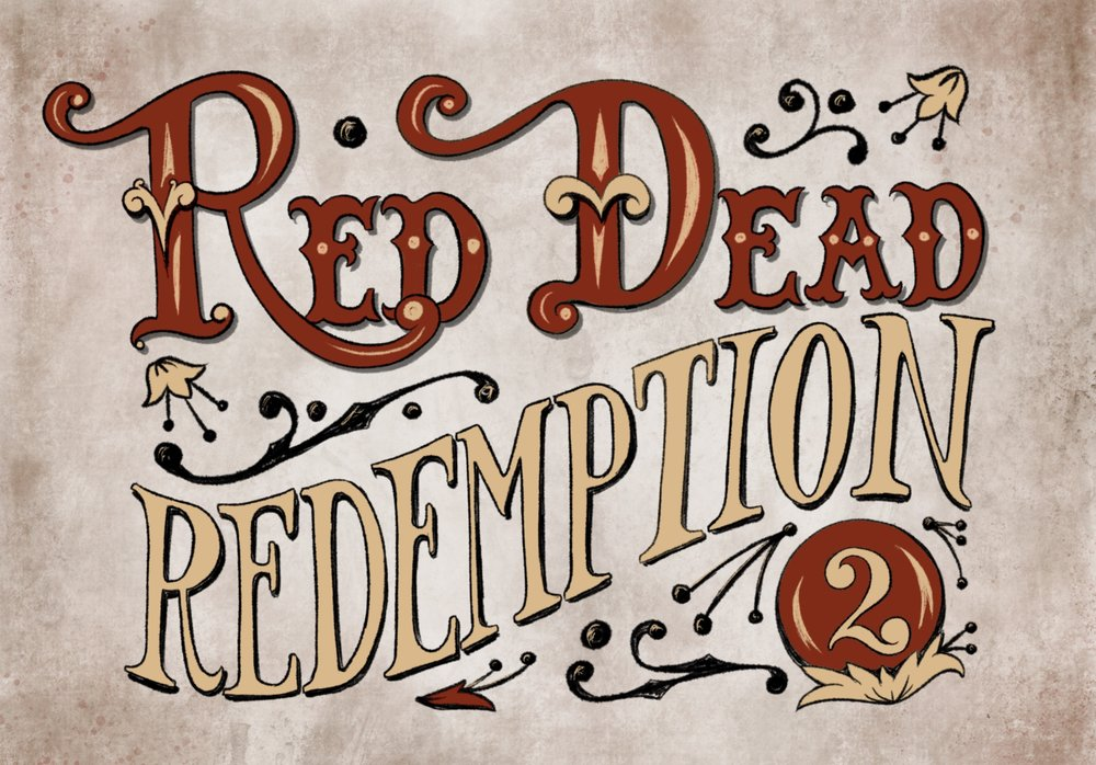 Red Dead Redemption 2 Handlettering