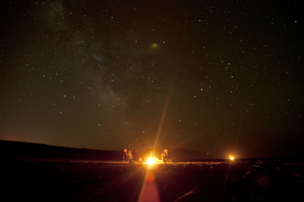 Beach camping on the Washington coast