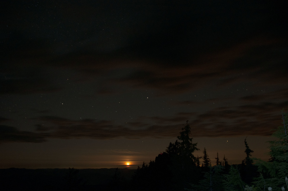 The most breathtaking moon set I have ever seen
