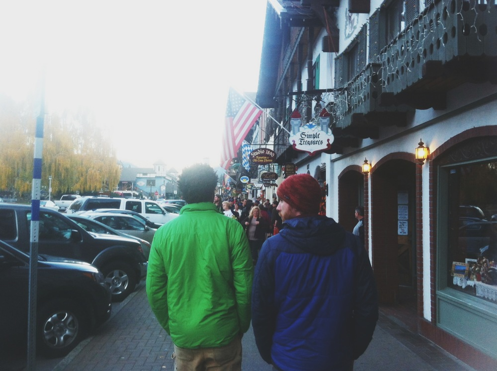 Exploring the Bavarian town of Leavenworth with Adam and Isaac (taken with my busted iPhone)