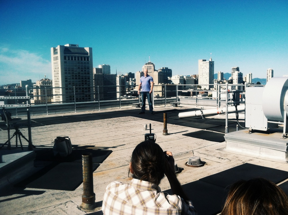 iphone image on top of the Ritz Carlton residence as Edu shoots portraits of epic proportion