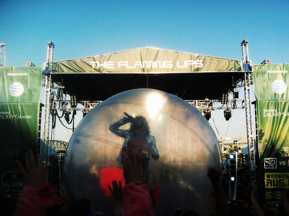 The Flamming Lips  free show