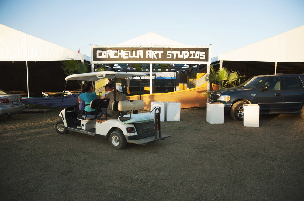 Putting the final touches on the Coachella Arts Studios Thursday Night. This is where I do most of my photo work.